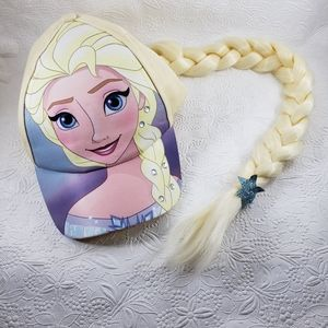 Disney Frozen Elsa hat with long braid.